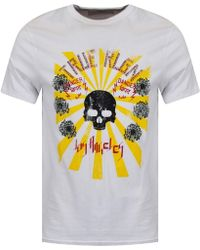 True Religion - White Rising Sun Graphic Tee - Lyst