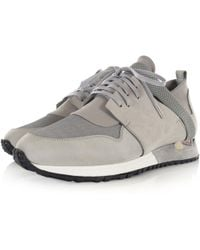 MALLET FOOTWEAR - Mallet Pale Grey Elast Trainers - Lyst