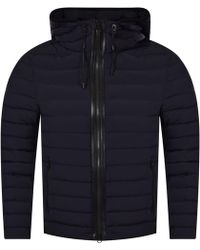 Mackage - Navy/black Lightweight Hooded Jacket - Lyst
