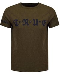 True Religion - Khaki Star Logo T-shirt - Lyst