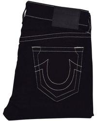 True Religion - Black/white Jack No Flap Jeans - Lyst