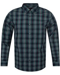 Michael Kors - Blue/green Midnight Large Check Shirt - Lyst