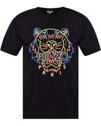 KENZO - Tiger Print T-shirt - Lyst