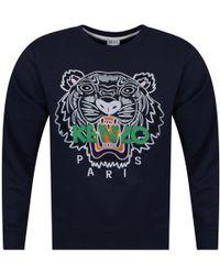 KENZO - Navy Tiger Logo Sweatshirt - Lyst