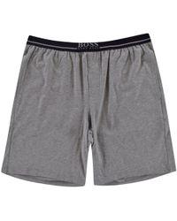 e44e96fe8 BOSS Hugo Black Lightweight Mix & Match Shorts in Black for Men - Lyst