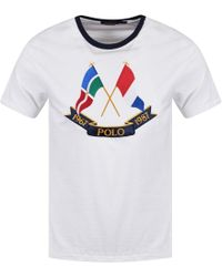 Polo Ralph Lauren - White/navy Yacht Club T-shirt - Lyst