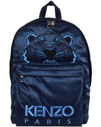 KENZO - Blue Holiday Capsule Satin Tiger Backpack - Lyst