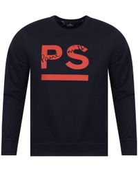 PS by Paul Smith - Paul Smith Navy/red Logo Sweatshirt - Lyst