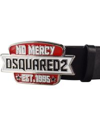 DSquared² - Black/red No Mercy Buckle Belt - Lyst