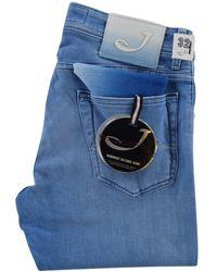 Jacob Cohen - Light Wash Slim Fit Jeans - Lyst