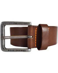 BOSS by Hugo Boss - Brown Leather Belt - Lyst
