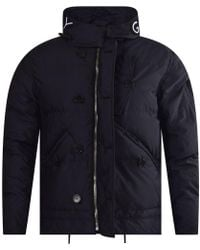 Givenchy - Embroidered Black Logo Padded Jacket - Lyst