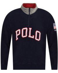 Polo Ralph Lauren - Cotton-blend-fleece Pullover - Lyst