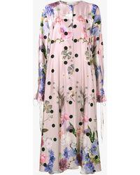 Natasha Zinko - Floral Print Midi Kaftan Dress - Lyst