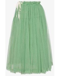 Molly Goddard - Lettie High-waisted Gathered Tulle Skirt - Lyst