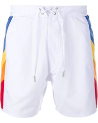 Saint Laurent - Swimming Trunks With Rainbow Side Panels - Lyst