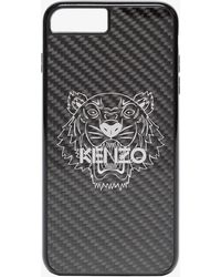 KENZO - Metallic Black Tiger Print Iphone 8 Plus Case - Lyst