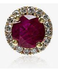 Rosa De La Cruz - Ruby White Diamond Single Stud Earring - Lyst
