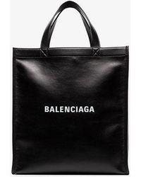 Balenciaga - Black Large Leather Tote Bag - Lyst