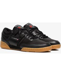 Reebok - Black Workout 85 Txt Leather Trainers - Lyst