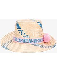 Yosuzi - Pink And Blue Marea Hat - Lyst