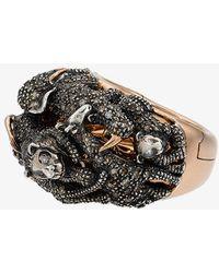 Bibi Van Der Velden - 18k Rose Gold Diamond Panther Double Ring - Lyst