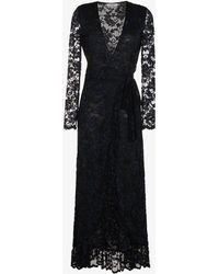 Ganni - Maxi Flynn Lace Maxi Dress - Lyst