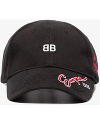 Balenciaga - Black Bb Europe Embroidered Cap - Lyst