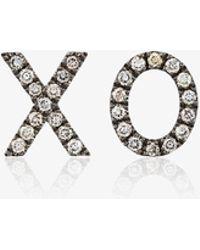 Rosa De La Cruz - Brown Diamond Xo Earrings - Lyst