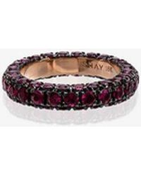 SHAY - Rose Gold 3 Side Ruby Ring - Lyst
