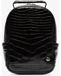 Stalvey - Black Mini Crocodile Leather Backpack - Lyst