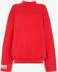 Vetements - Cut Out Detail Sweatshirt - Lyst