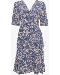 Isabel Marant - Brodie Floral Print V-neck Dress - Lyst