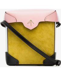yellow and bubblegum Micro Bold suede cross-body bag - Multicolour Manu Atelier rs1k9Tww