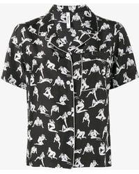 Adam Selman - Naked Lady Print Pyjama Shirt - Lyst