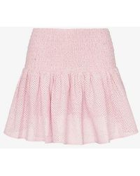 Marysia Swim - Lahaina Smocked Waist Cotton Mini Skirt - Lyst