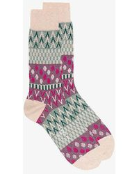 Ayamé - Pouring Rain Patterned Ankle Socks - Lyst