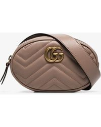 703daa6a5e8 Lyst - Gucci Small Gg Marmont Belt Pack W  Appliqués in Black