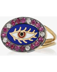 18k yellow gold Americana eye ring Holly Dyment BnhV2