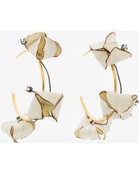 Marni - Hoop Flower Earrings - Lyst