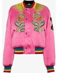 Gucci - Embroidered Reversible Bomber Jacket - Lyst