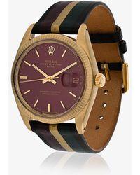 La Californienne - 14k Gold Nova Galaxie Rolex Oyster Perpetual Date Leather Watch - Lyst
