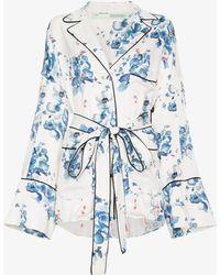 Off-White c/o Virgil Abloh - X Browns Floral Print Belted Pyjama Jacket - Lyst