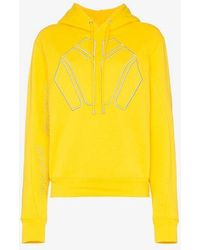 GmbH - Logo Embroidered Hoodie - Lyst