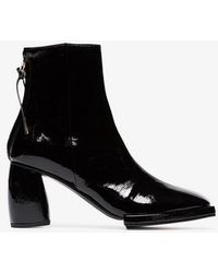 Reike Nen - Square Toe Patent Leather Ankle Boots - Lyst