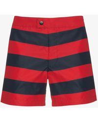 Jil Sander - Striped Swim Shorts - Lyst