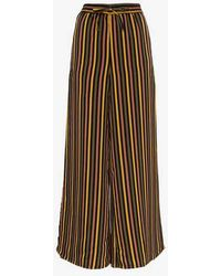 Onia - Chloe Striped Wide Leg Trousers - Lyst
