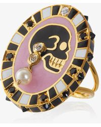 Holly Dyment | 18k Yellow Gold Monday Diamond Pearl Ring | Lyst