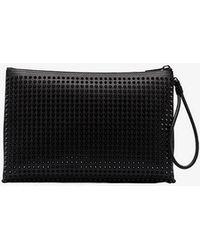 Christian Louboutin - Black Kaloupouch Leather Clutch Bag - Lyst