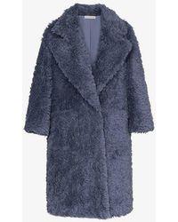Vika Gazinskaya - Faux Fur Oversized Coat - Lyst